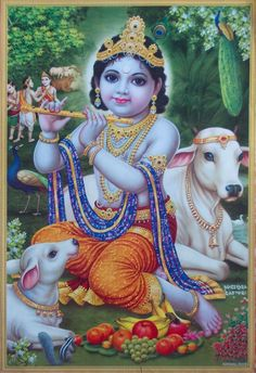 Shri-Krishna-Fluting-Divine-Cows-POSTER-Big.jpg (999×1458)