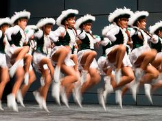 Members of the group 'The Kattfiller' perform during the Norddeutsche Championship carnivalesque dance sport in Kassel, Germany. About 1,100 qualified dancers show in different disciplines their skills.   Swen Pfoertner, EPA