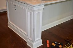 Want to Upgrade Your Kitchen Island? This is a super quick, inexpensive, easy weekend project, that provides a lot of character to an otherwise basic kitchen island by adding picture frame molding. Picture Frame Molding, Picture Frames, Kitchen Island Upgrade, Diy Home Interior, Basic Kitchen, Kitchen Upgrades, Entryway Tables, Sweet Home, New Homes