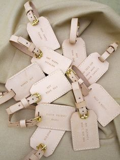 To keep with the 'travel' theme of our wedding luggage tags and wedding favours.  Too late - but wish I had thought of this!!!