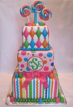 Southern Blue Celebrations: Candy / Sweet Shope Theme Cakes