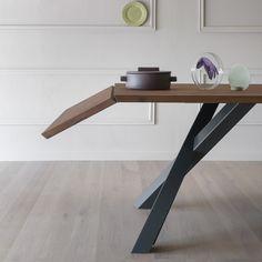 Tavolo allungabile in legno GUSTAVE PLUS by Miniforms design Paolo Cappello