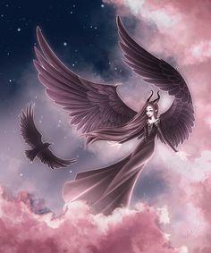 Maleficent by Fayrine Maleficent Drawing, Maleficent Movie, Malificent, Maleficent Wings, Cute Disney, Disney Art, Fantasy Landscape, Fantasy Art, Disney Princess Tattoo