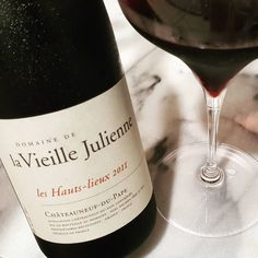 The classy label, aromatic whiff upon opening and a spicy, tannic long finish. Fantastic latest variant from Vielle Julienne. Chateauneuf Du Pape, Orange, Wines, Singapore, Spicy, Label, Classy, Bottle, Chic