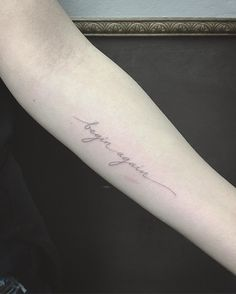 Image result for begin again tattoo