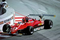 Gilles Villeneuve Ferrari 126C2 Long Beach 1982 #ferrarivintagecars