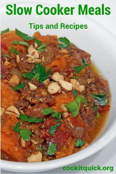 Slow Cooker Meals - tips and recipes