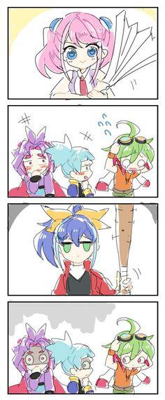 Run boys. Run. Especially you, Sora. Then Yuri, then Yuya because he is in the least danger.
