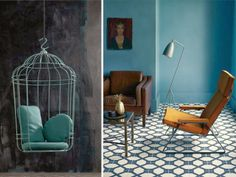 1000 images about salon bleu on pinterest salons - Peinture bleu salon ...