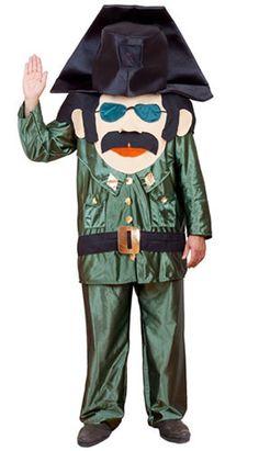 Disfraz de Guardia Civil Cabezón adulto