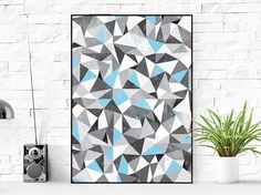 Triangle print, Geometric Print, Triangles Print, Scandinavian Print, Printable Wall Art, Triangle Wall Art, Blue Geometric Print, Geomentic by DigitalRomashka on Etsy https://www.etsy.com/listing/476803351/triangle-print-geometric-print-triangles