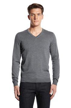 """Slim Fit V-Neck """"Baku-Z' Sweater by BOSS Black"""