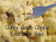 Your Healthy Year | Skinny Garlic Cheese Cauliflower Bake | http://www.yourhealthyyear.com