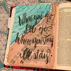 ruth and orpah bible journaling Scripture Art, Bible Art, Bible Quotes, Bible Verses, Book Art, Bible Study Journal, Art Journaling, Journal Art, Ruth Bible