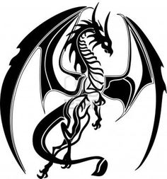 Dragon Tattoo is one of the most popular mystical tattoos. Like most other mythological tattoos, dragon tattoos are perceived in different ways by different cultures around the world. Kunst Tattoos, Tattoo Drawings, Body Art Tattoos, Tattoo Art, Tattoo Abstract, Tattoos Skull, Tiger Tattoo, Arm Tattoo, Hand Tattoos