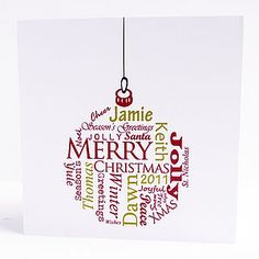 Personalised Bauble Card Pack - cards