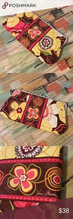 VERA  BRADLEY CLUTCH/WALLET Super cute floral VERA Bradley wallet/clutch! Never used and in excellent condition. Great pattern!!! Vera Bradley Bags Clutches & Wristlets