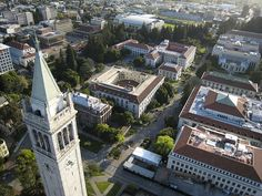 University of California Berkeley, BA English, 1995 Berkeley Campus, Aerial View, Bay Area, Photo Credit, Big Ben, Places To Go, University, California, Mansions