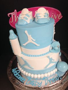 Michael Jordan Baby Shower Cake by Exclusive Cake Shop