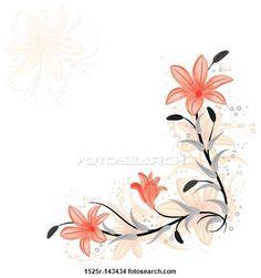 Desenhos - floral, elemento, para, desenho, com, lírio, vetorial 1525r-143434 - Busca de Ilustrações Clip Arte, Posters de Parede, e Vetores Gráficos EPS - 1525r-143434.EPS