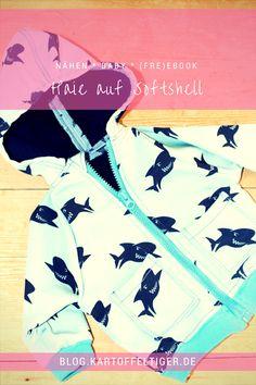 [Nähen fürs Baby] Haie auf Softshell (Freebook-Vorstellung SchnullerRockers)