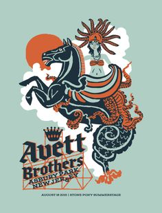 2015 The Avett Brothers - Asbury Park Silkscreen Concert Poster by Furturtle Artist Journal, Asbury Park, Online Posters, Lyric Art, All Poster, Poster Prints, Concert Posters, Music Posters, Screen Printing