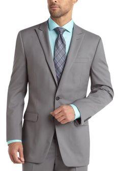 Calvin Klein Light Gray Slim Fit Suit - Modern Fit (Trim)   Men's Wearhouse