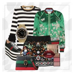 """""""Print on print"""" by regine-velasquezs-lutong-bahay ❤ liked on Polyvore featuring Gucci, Urban Decay and Rolex"""