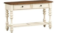 Living Rooms, Southport Sofa Table - Distressed White, Living Rooms | Havertys Furniture