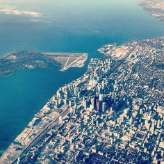 UrbanToronto photo of the day featuring a shot of Toronto from the air. Ontario, Airplane View, Toronto, City Photo, Around The Worlds, Skyline, Canada, Earth, Urban