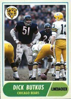 Dick Butkus Chicago Bears Nfl Football Players, Football Memes, Sports Memes, Football Cards, School Football, Sports Pics, Sports Logos, Sport Football, Baseball Cards