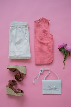 The perfect outfit for your weekend brunch plans. Pair a bright top with white shorts and summer wedges for a casual-chic look. Shop all new summer arrivals from Gap.