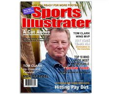 Printable DIY Magazine Cover Templates : Sports Illustrater Magazine Cover Template –Insert Photo and Print!