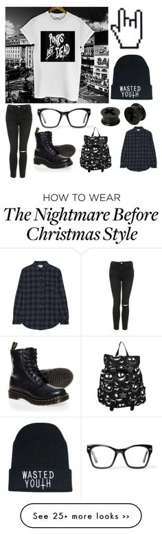 """Contest"" by worthlesschild on Polyvore featuring Topshop, Spitfire, Dr. Martens and Current/Elliott"