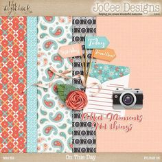 FREE DigiScrap Parade Aug 2016 Hop : On This Day by JoCee Designs