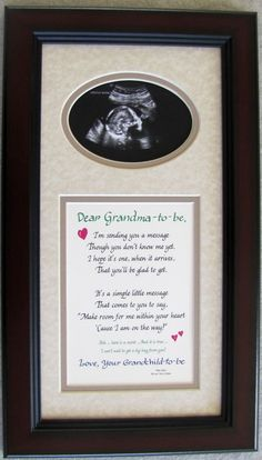 Grandma to Be Ultrasound Picture Frame 7x14 Grandma Gift:Amazon:Home & Kitchen