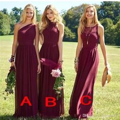 Burgundy Bridesmaid Dresses 2017 New Floor Length Mixed Styles Chiffon Lace Wedding Party Dresses Cheap Summer Boho Maid of Honor Gowns Lace Bridesmaid Dresses Beach Bridesmaid Dresses Plus Size Bridesmaid Dresses Online with $97.15/Piece on Haiyan4419's Store   DHgate.com