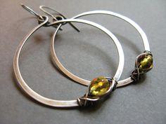 Ella Artisan sterling silver hoop by misluo.etsy.com