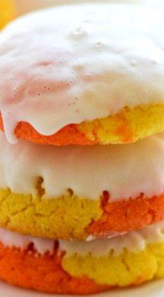 Candy Corn Cake Mix Cookies