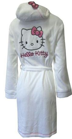 I found 'Hello Kitty Hooded White Kitty Face Plush Robe' on Wish, check it out! get some yourself some pawtastic adorable cat apparel! Hello Kitty Clothes, Hello Kitty Stuff, Hello Kitty Themes, Bon Film, Hello Kitty Collection, Sanrio Hello Kitty, Here Kitty Kitty, Lounge Wear, Little Girls