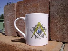 Masonic  Square and Compass Coffee Cup