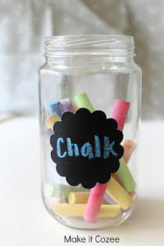 DIY chalk board - could use for names on lockers or bag racks