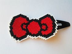 Hello Kitty cross stitch bow by CabbageStitches on Etsy Cross Stitch Patterns, Stitching Patterns, Crafty Craft, Crafting, Charts And Graphs, Plastic Canvas Patterns, Needle And Thread, Hama Beads, Bead Crafts