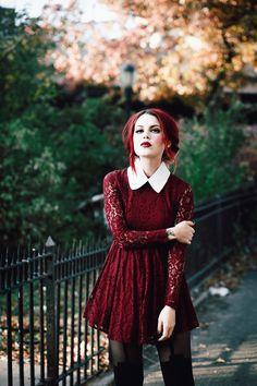Le Happy wearing lace dress in doll costume 90s Fashion, Love Fashion, Fashion Beauty, Girl Fashion, Fashion Outfits, Anastasia, Chloe, Luanna Perez, Le Happy