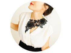 floral lace necklace