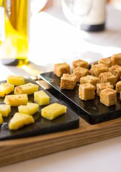Coconut crusted tofu with pineapple and sweet chili sauce makes a great appetizer   mjskitchen.com