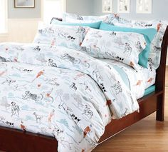 A Walk in the Park Cotton Jersey Bedding - incredibly soft and perfect for summer!