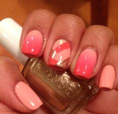 Mix and Match Ombre and Braided NOTD braideed and ombre nails Related posts: Ombre nails might be fantastic match to your clothes or accessories. The brief o… 🍑 Peach Ombre und Rose Gold Glitter Mix auf langen Sargnägeln 👌 Get Nails, Prom Nails, Love Nails, How To Do Nails, Pretty Nails, Hair And Nails, Funky Nails, Wedding Nails, Glitter Acrylics