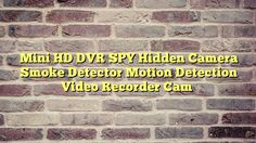 Mini HD DVR SPY Hidden Camera Smoke Detector Motion Detection Video Recorder Cam - http://thisissnews.com/mini-hd-dvr-spy-hidden-camera-smoke-detector-motion-detection-video-recorder-cam-2/