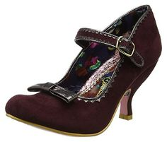 Irregular Choice Damen Wester Chester Mary Jane Halbschuhe, Red (Bordo), 42 EU - Mary jane halbschuhe (*Partner-Link)
